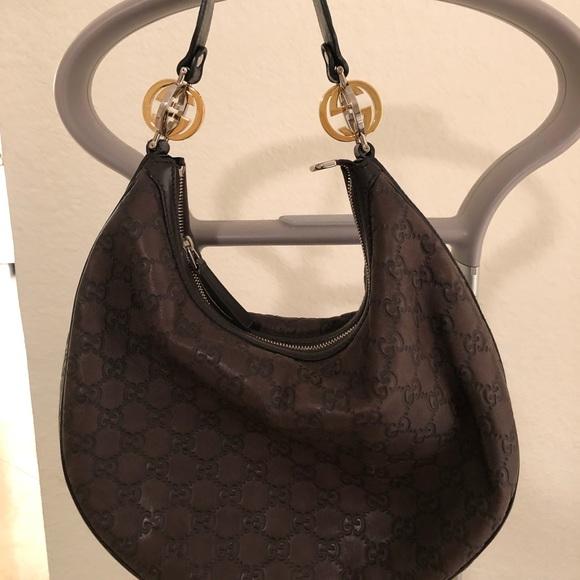 8e49eb8750bb Gucci Bags | Brown Gg Twins Hobo Bag | Poshmark